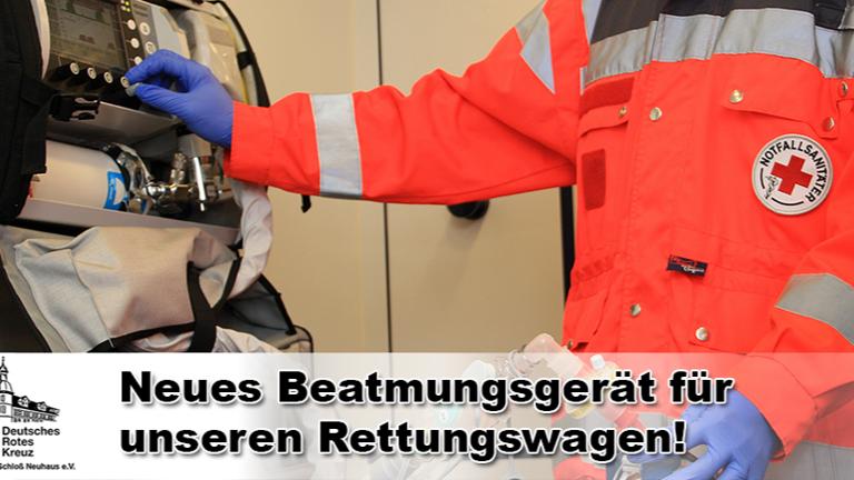 Neues Beatmungsgerät für unseren Rettungswagen