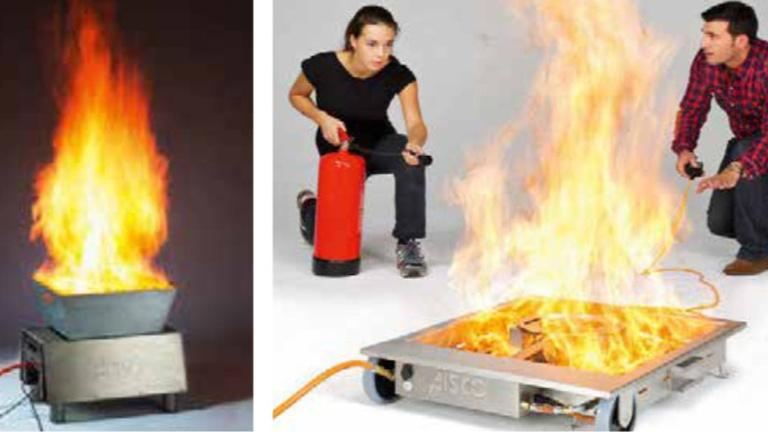 Brandsimulator für die Feuerwehr Laufach