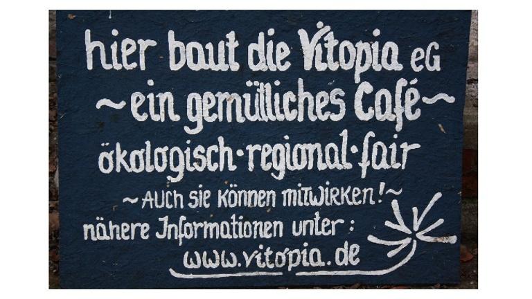 Fair naschen bei Vitopia im Herrenkrugpark - ein Café entsteht