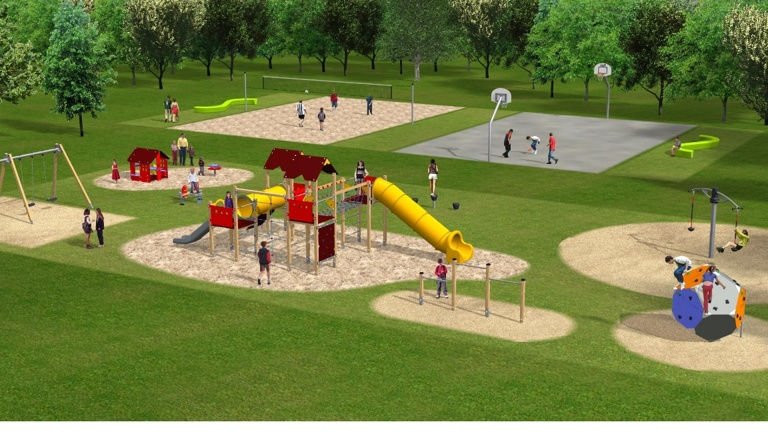 Spielhaus für Kinderspielplatz Gummersbach-Berstig