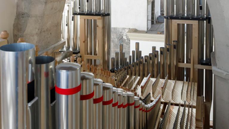 Fertigstellung der Orgel der Minoritenkirche