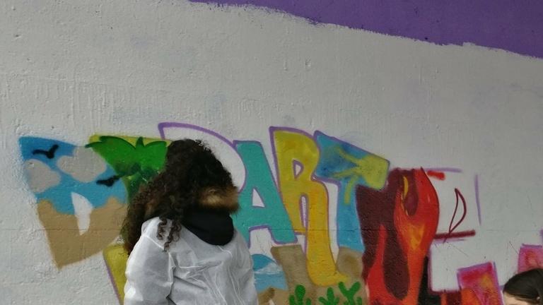 Graffiti- Workshopreihe für Hünxe