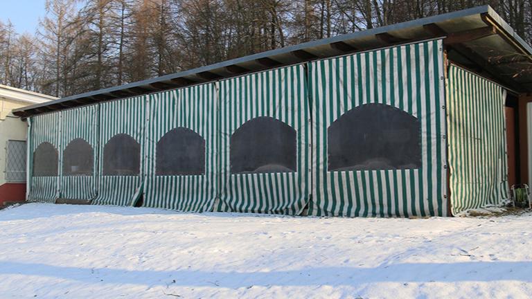Dach-Sanierung der FCG-Pergola