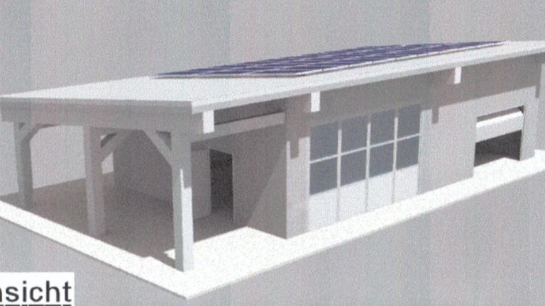 Neubau Lager- und Gerätehalle