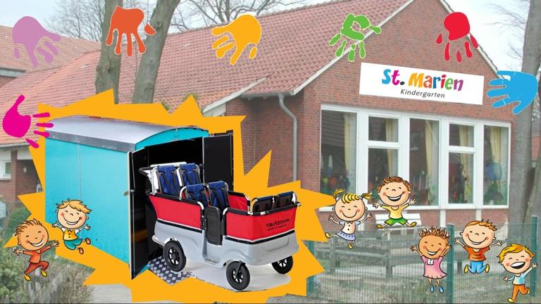 """Turtle"" Kinderbus für den St. Marien Kindergarten in Eggerode"