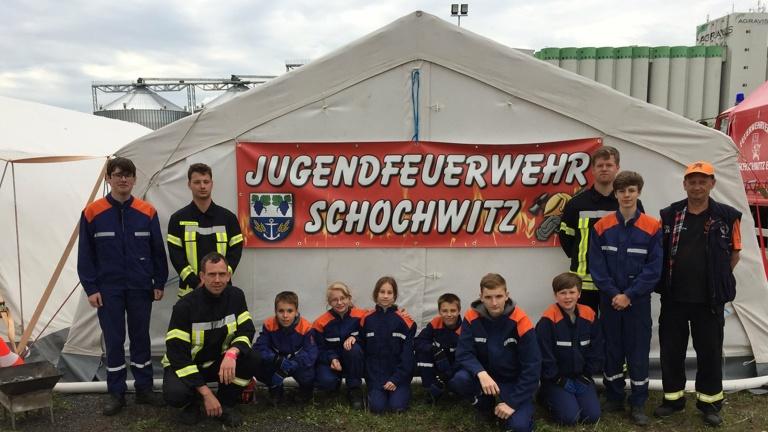 Zelt für die Jugendfeuerwehr Schochwitz