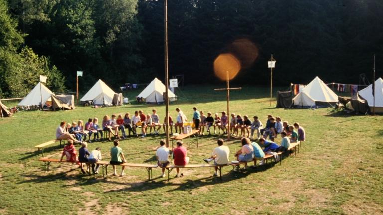 Materiallager für das Zeltlager Avenwedde/St. Vit