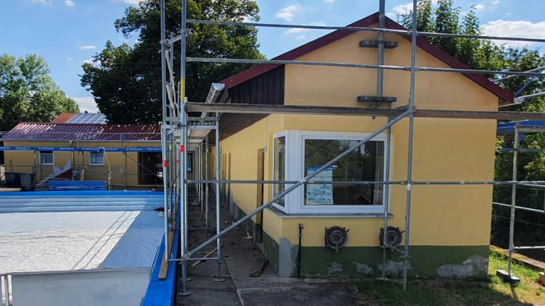 Renovierung im Freibad