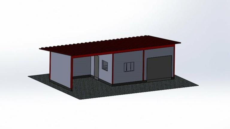 Neubau Lager- und Bewirtungshütte