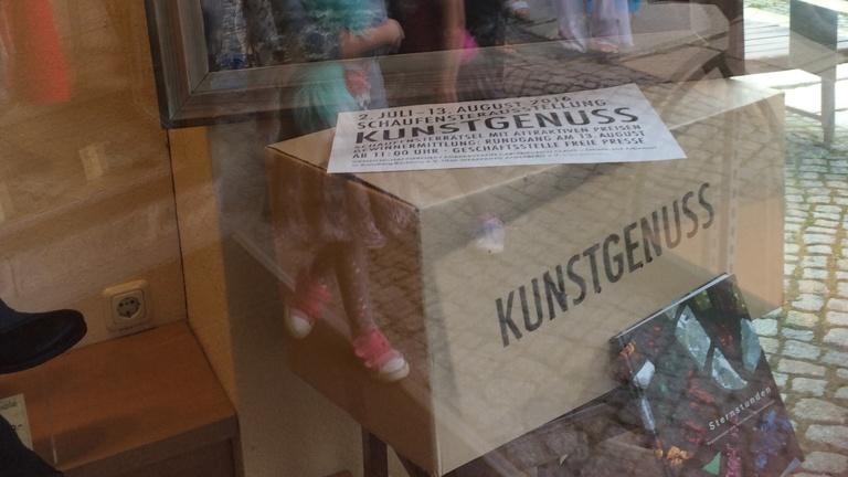 Schaufensterausstellung Kunstgenuss