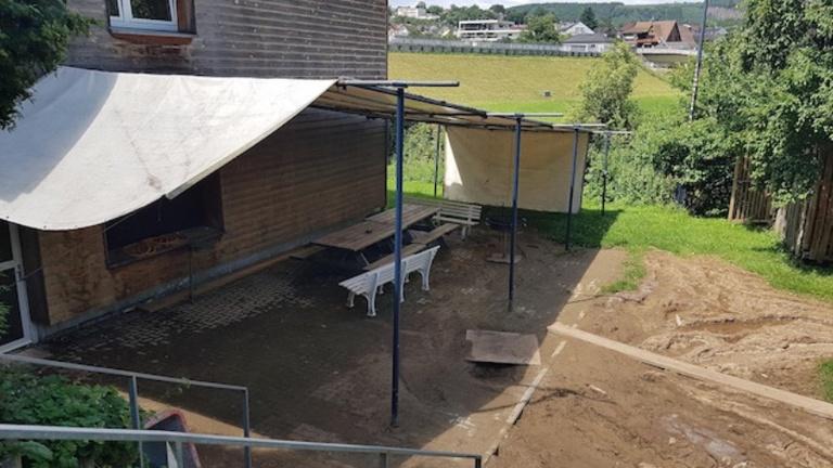 Eschweiler Kanu Club - Bootshaus - Hochwasser und Sanierung