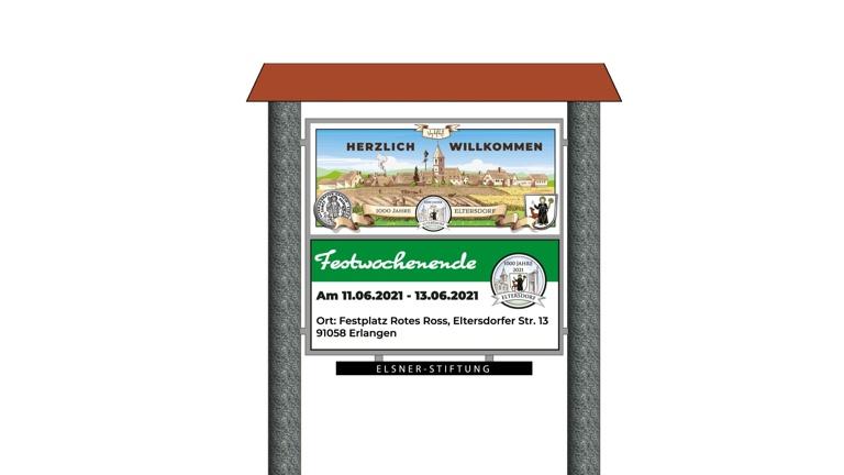 Ortseingangsschilder Eltersdorf