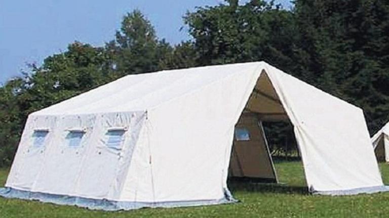 Materialzelt für das Zeltlager Alt-GMHütte