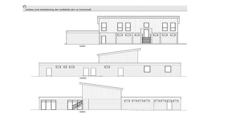 Erneuerung Umkleidegebäude Sportplatz