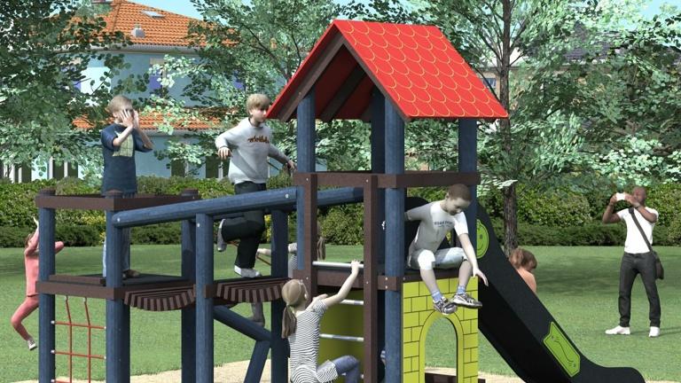 Spielturm Spielplatz Mambach