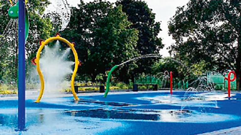Wasserspielplatz Freibad Alstätte