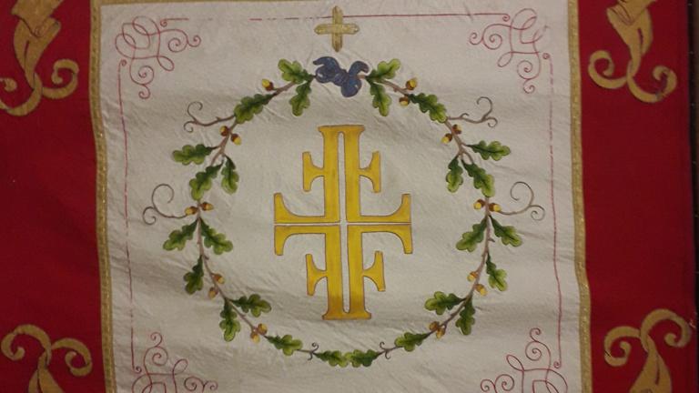 Restaurierung der historischen Vereinsfahne
