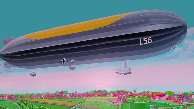 Zeppelinmodell als Spielgerät für Kinder