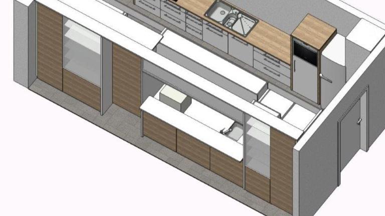 Küche für das neue Vereinsheim