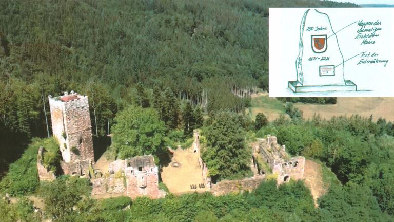 """Gedenkstein """"750 Jahre"""" von Mudau, Donebach, Mörsc"""