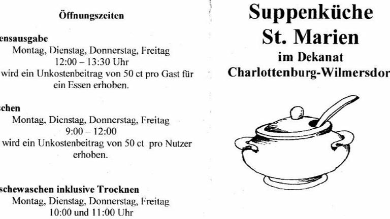 Suppenküche St. Marien am Bergheimer Platz in Ber.