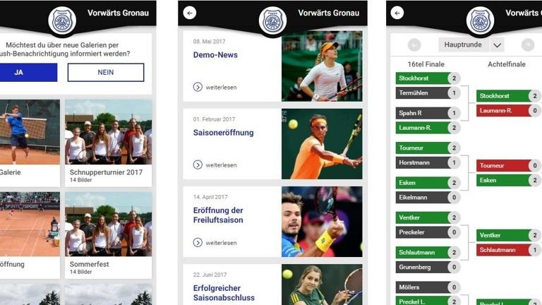 Tennis-Verein APP