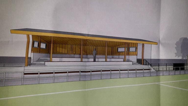 Mehrzweckgebäude an der Alme-Arena