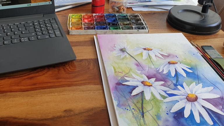 Zuhause kreativ sein – online Kurse der Malwerkstatt Delmenhorst e.V.