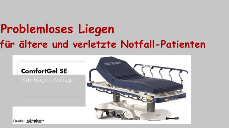 Problemloses Liegen für ältere Notfall-Patienten