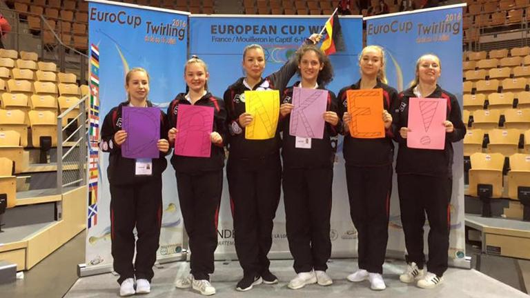 Sportlerunterstützung Twirling TV 1886 Langenselbold - Europacup 2018