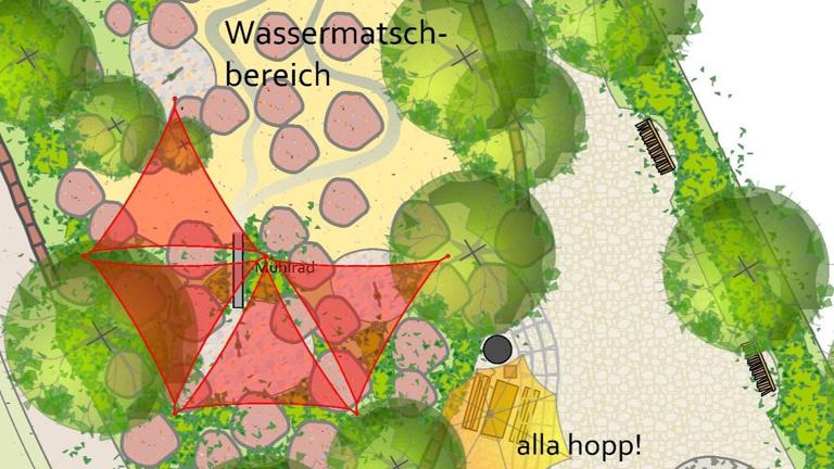 Sonnensegel für die alla hopp!-Anlage Meckesheim
