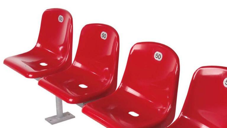 Stadionsitze für Tribünenanlage