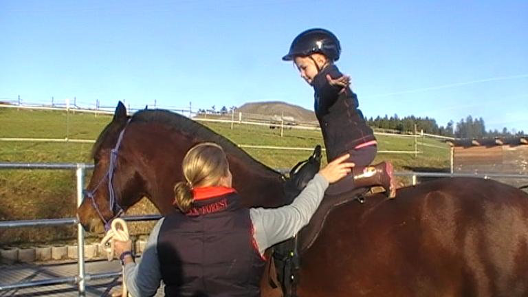 Pferdeaufstiegshilfe für besondere Menschen
