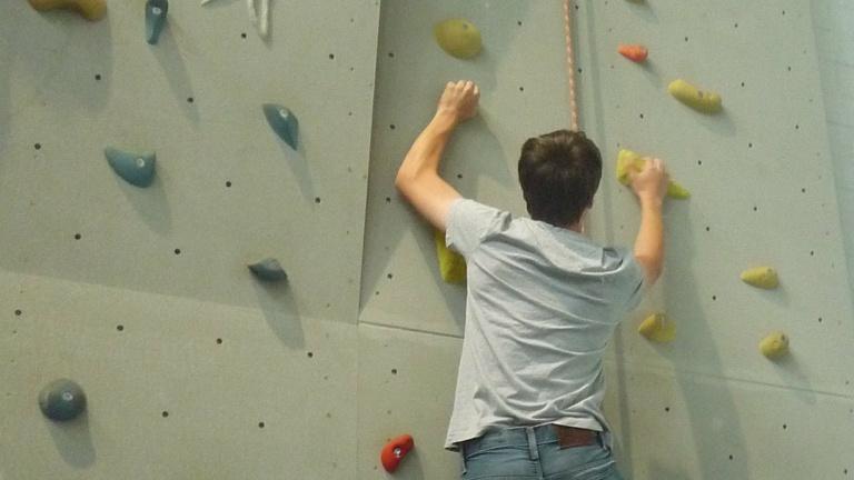 Eine Kletterwand für den Turnverein Uhingen