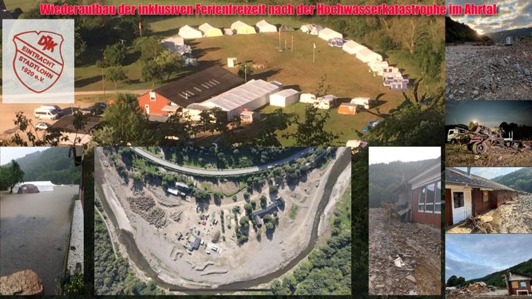 Wiederaufbau der inklusiven DJK Ferienfreizeit in Hönningen/ Ahr