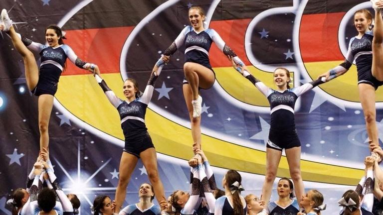 Saints Cheerleader for Team Germany