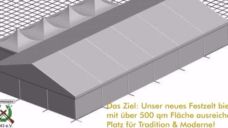 Neues Zelt für den Schützenverein Opmünden