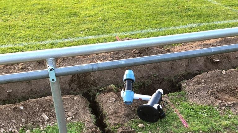 Errichtung einer Bewässerungsanlage