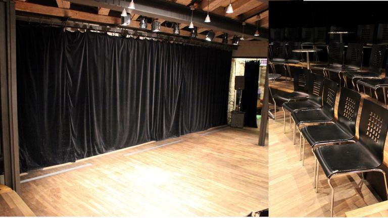 Beschaffung von 3 Feuerschutz-Theatervorhängen und 150 Besucherstühlen