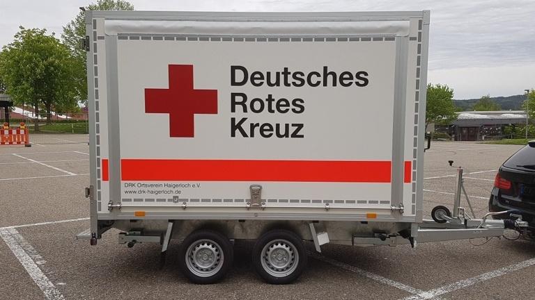 Anhänger DRK Haigerloch als Ersatz für Gerätewagen