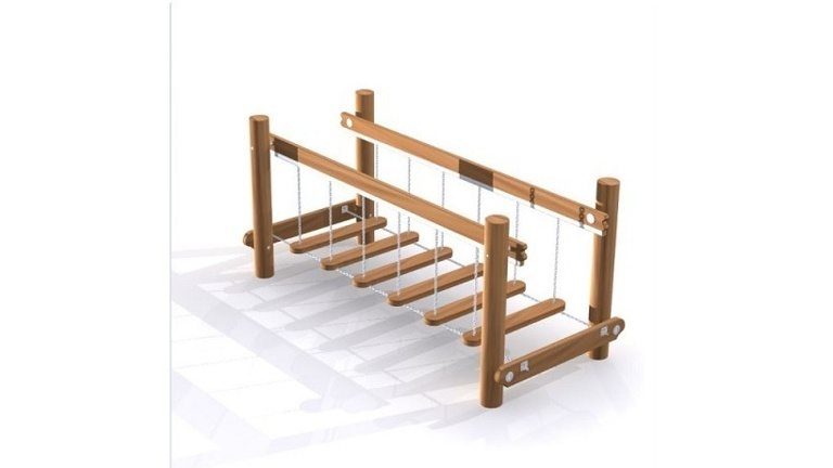 Balancierbrücke für die Kinder der AWO-Krippe