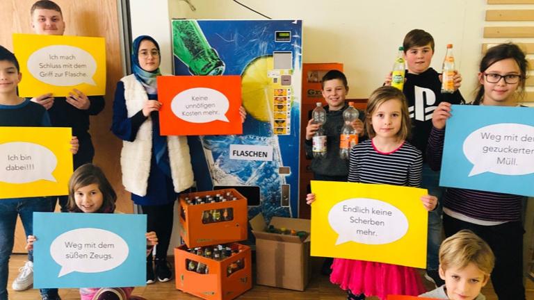 Gesundes Trinkwasser statt Zucker für Schüler