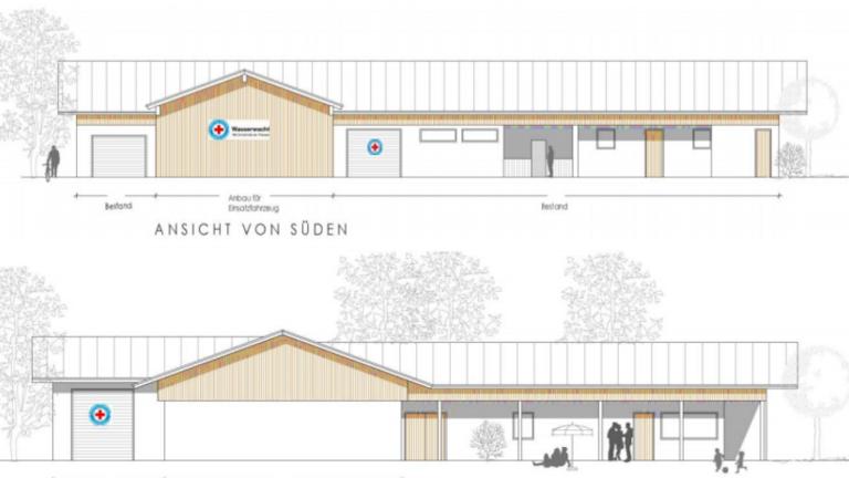 Wasserwacht Bergen Neubau SEG Garage