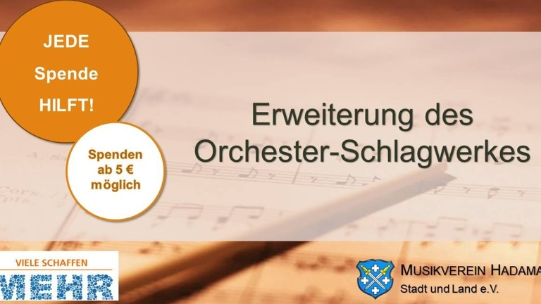 Erweiterung des Orchester-Schlagwerkes