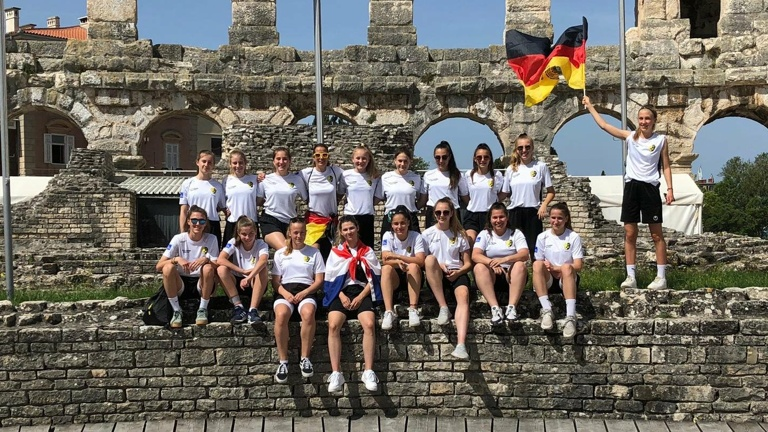 TSV Girls beim Croatia-Football-Festival 2020