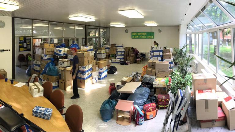 Organisation von Hilfsgütertransporten