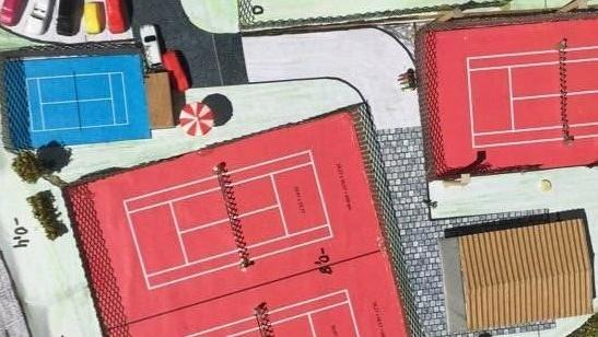 Neubau Tennisanlage: Kids-Kleinfeld