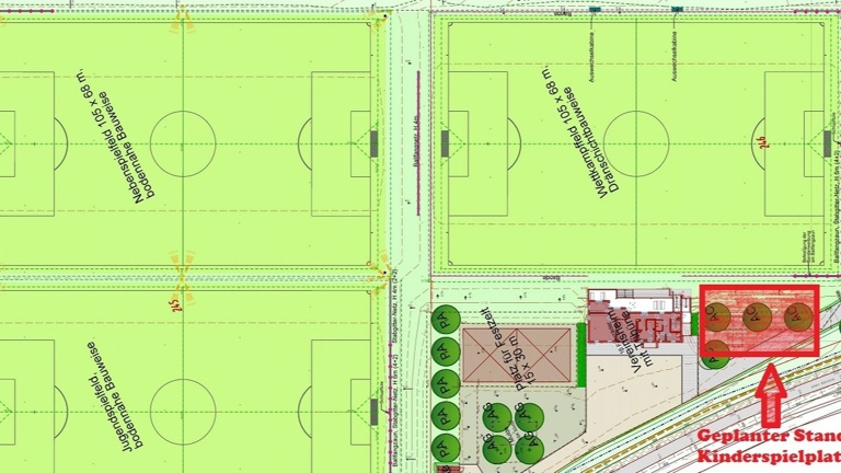 Kinderspielplatz für das neue Sportgelände des FCR