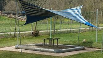 Erneuerung Matschanlage und Sonnensegel