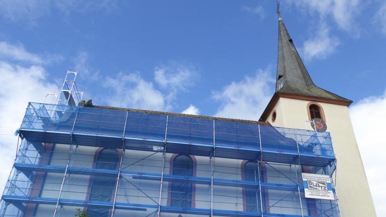 Renovierung Turm evangelische Kirche Daudenzell